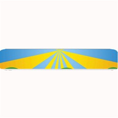Sunlight Clouds Blue Yellow Green Orange White Sky Small Bar Mats