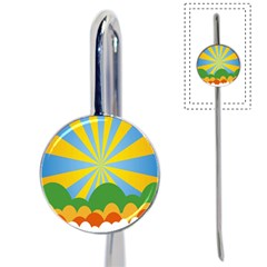 Sunlight Clouds Blue Yellow Green Orange White Sky Book Mark