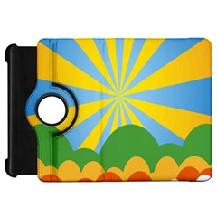 Sunlight Clouds Blue Yellow Green Orange White Sky Kindle Fire HD 7
