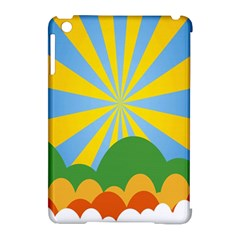 Sunlight Clouds Blue Yellow Green Orange White Sky Apple iPad Mini Hardshell Case (Compatible with Smart Cover)