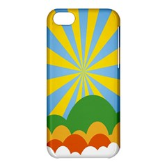 Sunlight Clouds Blue Yellow Green Orange White Sky Apple iPhone 5C Hardshell Case