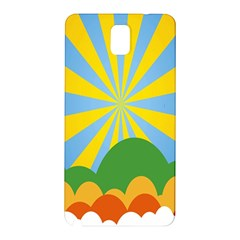 Sunlight Clouds Blue Yellow Green Orange White Sky Samsung Galaxy Note 3 N9005 Hardshell Back Case