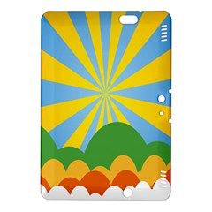 Sunlight Clouds Blue Yellow Green Orange White Sky Kindle Fire HDX 8.9  Hardshell Case