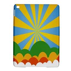 Sunlight Clouds Blue Yellow Green Orange White Sky iPad Air 2 Hardshell Cases