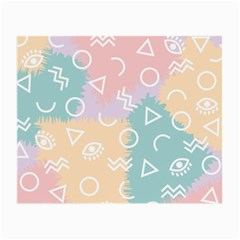 Triangle Circle Wave Eye Rainbow Orange Pink Blue Sign Small Glasses Cloth