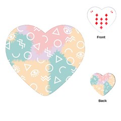 Triangle Circle Wave Eye Rainbow Orange Pink Blue Sign Playing Cards (Heart)