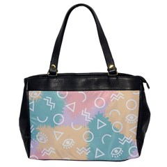 Triangle Circle Wave Eye Rainbow Orange Pink Blue Sign Office Handbags