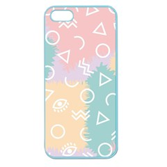 Triangle Circle Wave Eye Rainbow Orange Pink Blue Sign Apple Seamless iPhone 5 Case (Color)