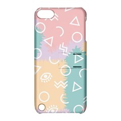 Triangle Circle Wave Eye Rainbow Orange Pink Blue Sign Apple iPod Touch 5 Hardshell Case with Stand