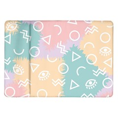Triangle Circle Wave Eye Rainbow Orange Pink Blue Sign Samsung Galaxy Tab 10 1  P7500 Flip Case