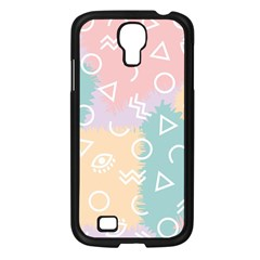 Triangle Circle Wave Eye Rainbow Orange Pink Blue Sign Samsung Galaxy S4 I9500/ I9505 Case (black)