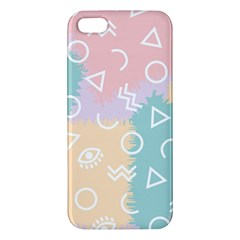 Triangle Circle Wave Eye Rainbow Orange Pink Blue Sign iPhone 5S/ SE Premium Hardshell Case