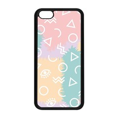 Triangle Circle Wave Eye Rainbow Orange Pink Blue Sign Apple iPhone 5C Seamless Case (Black)