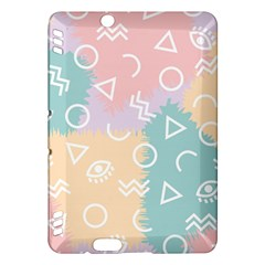 Triangle Circle Wave Eye Rainbow Orange Pink Blue Sign Kindle Fire HDX Hardshell Case