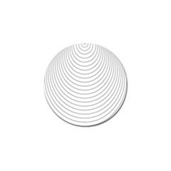 Wave Black White Line Golf Ball Marker (4 pack)