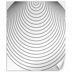 Wave Black White Line Canvas 8  x 10
