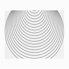 Wave Black White Line Small Glasses Cloth (2-Side)