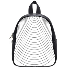 Wave Black White Line School Bags (Small)