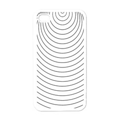 Wave Black White Line Apple iPhone 4 Case (White)