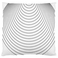 Wave Black White Line Large Cushion Case (One Side)