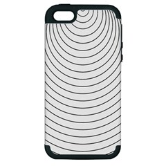 Wave Black White Line Apple iPhone 5 Hardshell Case (PC+Silicone)