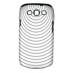 Wave Black White Line Samsung Galaxy S III Classic Hardshell Case (PC+Silicone)