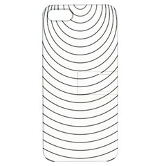 Wave Black White Line Apple iPhone 5 Hardshell Case with Stand