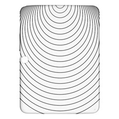 Wave Black White Line Samsung Galaxy Tab 3 (10.1 ) P5200 Hardshell Case