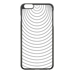 Wave Black White Line Apple Iphone 6 Plus/6s Plus Black Enamel Case