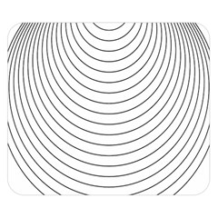 Wave Black White Line Double Sided Flano Blanket (Small)