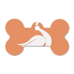 Swan Girl Face Hair Face Orange White Dog Tag Bone (One Side)