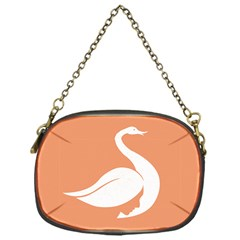 Swan Girl Face Hair Face Orange White Chain Purses (One Side)