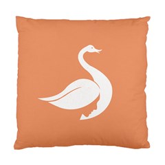 Swan Girl Face Hair Face Orange White Standard Cushion Case (Two Sides)