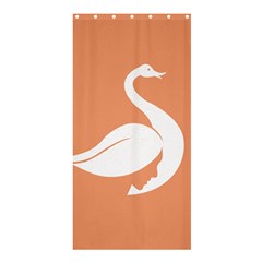 Swan Girl Face Hair Face Orange White Shower Curtain 36  X 72  (stall)