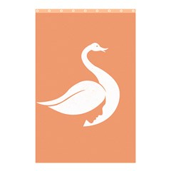 Swan Girl Face Hair Face Orange White Shower Curtain 48  x 72  (Small)