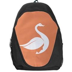 Swan Girl Face Hair Face Orange White Backpack Bag