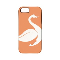 Swan Girl Face Hair Face Orange White Apple iPhone 5 Classic Hardshell Case (PC+Silicone)