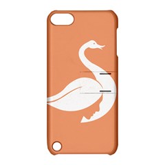 Swan Girl Face Hair Face Orange White Apple iPod Touch 5 Hardshell Case with Stand