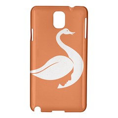 Swan Girl Face Hair Face Orange White Samsung Galaxy Note 3 N9005 Hardshell Case