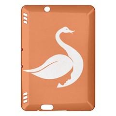 Swan Girl Face Hair Face Orange White Kindle Fire HDX Hardshell Case