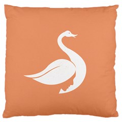 Swan Girl Face Hair Face Orange White Large Flano Cushion Case (One Side)