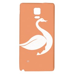 Swan Girl Face Hair Face Orange White Galaxy Note 4 Back Case