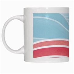 Wave Waves Blue Red White Mugs