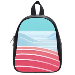 Wave Waves Blue Red School Bags (Small)