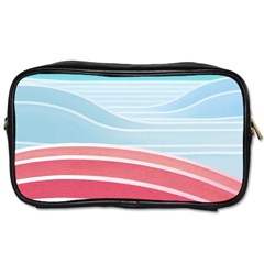 Wave Waves Blue Red Toiletries Bags 2-Side