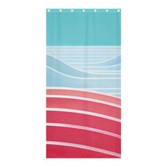Wave Waves Blue Red Shower Curtain 36  x 72  (Stall)