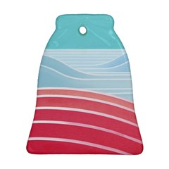 Wave Waves Blue Red Bell Ornament (two Sides)