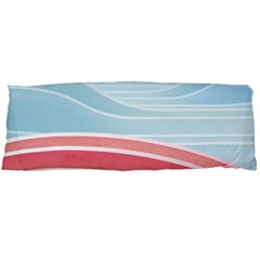 Wave Waves Blue Red Body Pillow Case Dakimakura (two Sides)