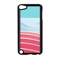 Wave Waves Blue Red Apple iPod Touch 5 Case (Black)