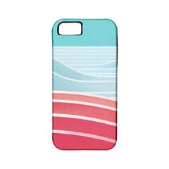 Wave Waves Blue Red Apple Iphone 5 Classic Hardshell Case (pc+silicone)